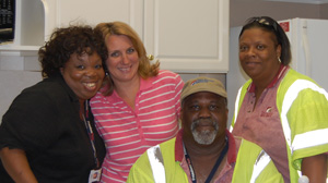 Angela Mims, Tuscaloosa ByPass Assistant Manager, Laynie Johnson, Stephanie Carter and Jeff Stallworth, TBP Maintenance